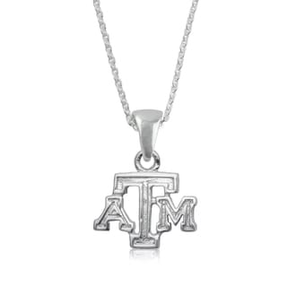 Texas AandM Sterling Silver Charm Necklace