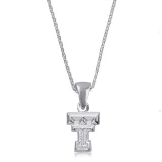 Texas Tech Sterling Silver Charm Necklace