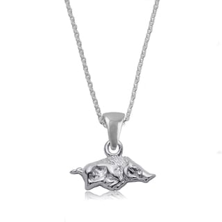 Arkansas Sterling Silver Charm Necklace