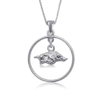 Arkansas Sterling Silver Open Drop Necklace