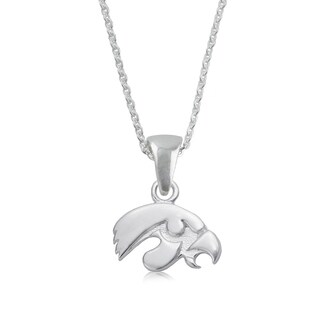 Iowa Sterling Silver Charm Necklace