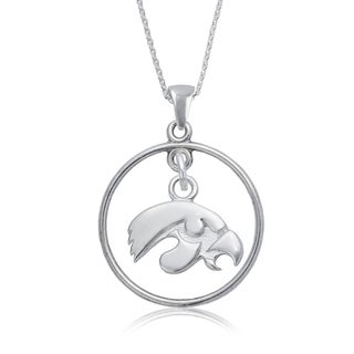 Iowa Sterling Silver Open Drop Necklace