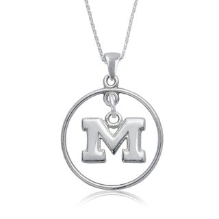 Michigan Sterling Silver Open Drop Necklace