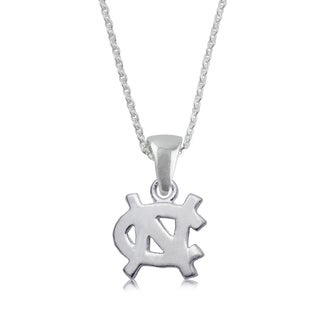 UNC Sterling Silver Charm Necklace