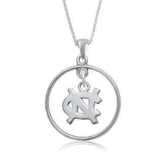 UNC Sterling Silver Open Drop Necklace