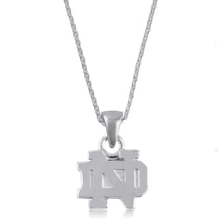 Notre Dame Sterling Silver Charm Necklace