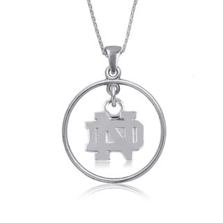 Notre Dame Sterling Silver Open Drop Necklace
