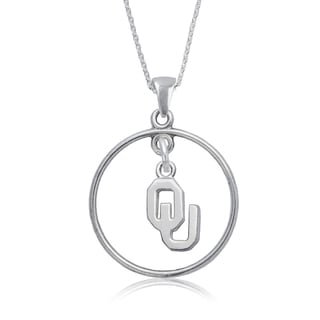 Oklahoma Sterling Silver Open Drop Necklace