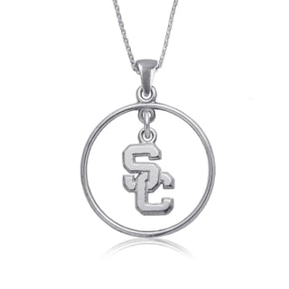 USC Sterling Silver Open Drop Necklace