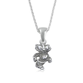 Wisconsin Sterling Silver Charm Necklace