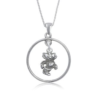 Wisconsin Sterling Silver Open Drop Necklace