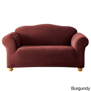 Sure Fit Simple Stretch Corduroy One-piece Loveseat Slipcover