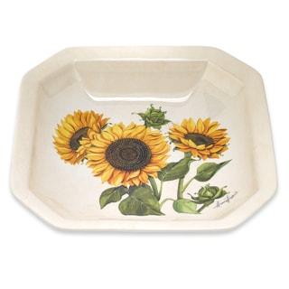 Lorren Home Trends Sunflower 13-inch Italian-made Octagonal Bowl