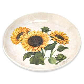 Lorren Home Trends Sunflower 13-inch Italian-made Rice Platter