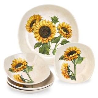 Lorren Home Trends 5 Piece Sunflower Pasta Set
