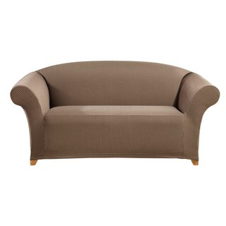 Sure Fit Simple Stretch Ticking Stripe One-piece Loveseat Slipcover