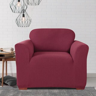 Sure Fit Simple Stretch Twill One-piece Chair Slipcover