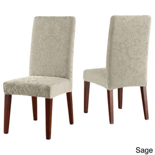 Sure Fit Stretch Jacquard Damask Dining Room Chair Slipcover (4 options available)