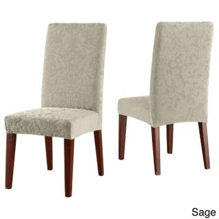 Sure Fit Stretch Jacquard Damask Dining Room Chair Slipcover 4 Options Available