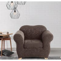 Sure Fit Stretch Jacquard Damask Two-piece Chair Slipcover