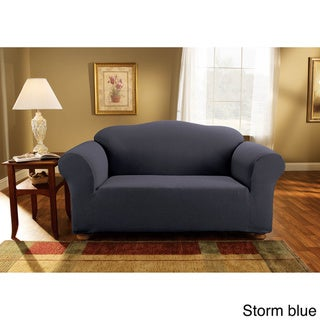 Sure Fit Simple Stretch Subway Tile One-piece Loveseat Slipcover