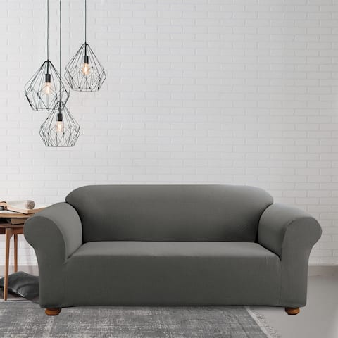 Sure Fit Simple Stretch Subway Tile One-piece Sofa Slipcover