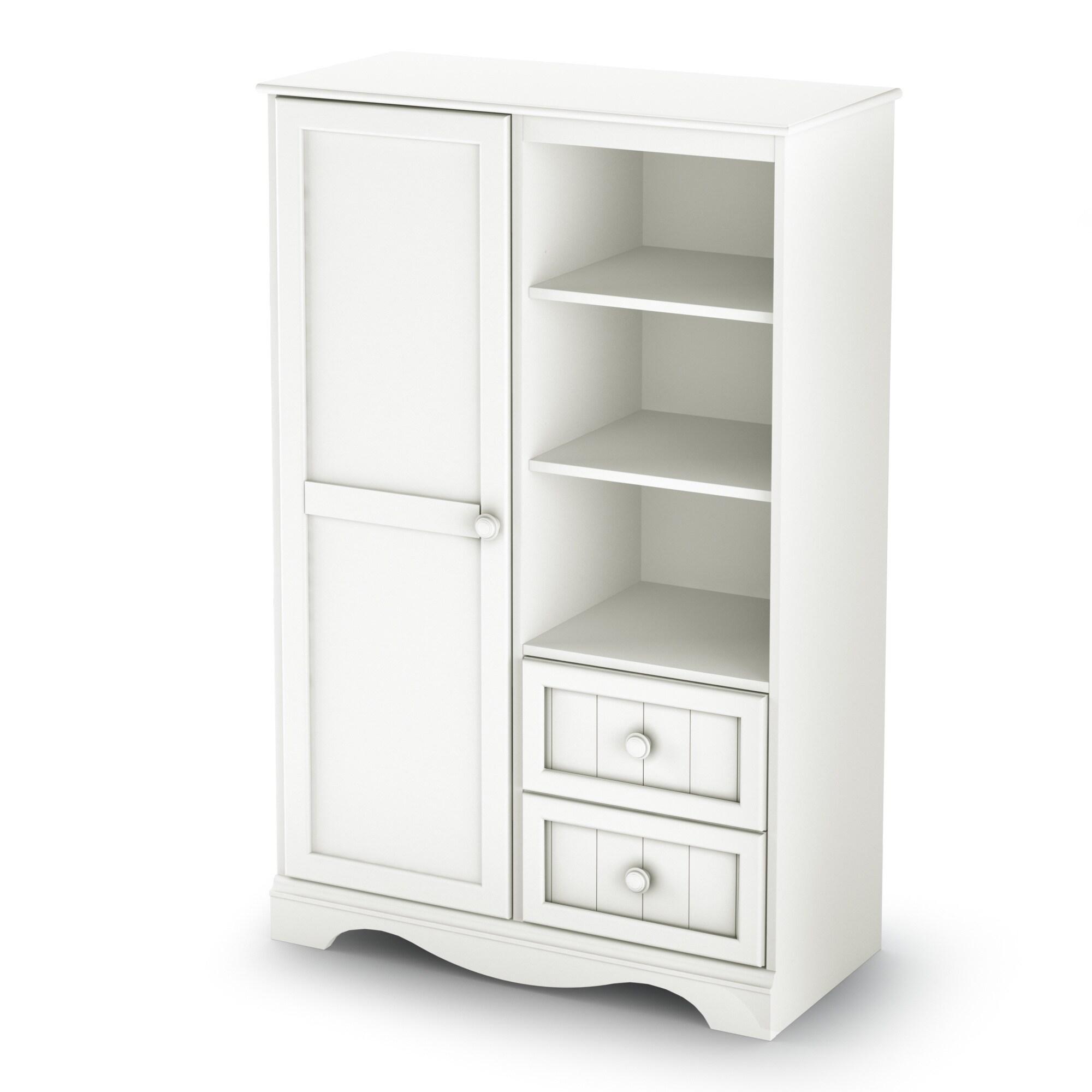 Savannah Collection Armoire (Option: White   White Finish)