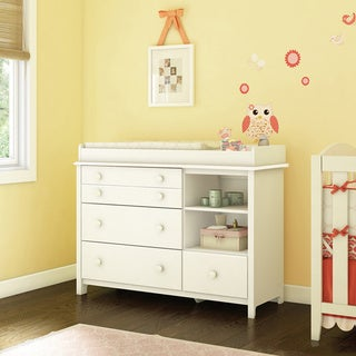 Little Smileys Changing Table with Removable Changing Station (Option: White Finish)