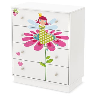 South Shore Joy 4-Drawer Chest with Fairy Ottograff Decals