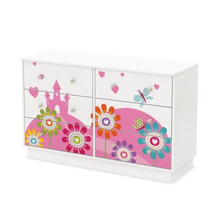 South Shore Joy 6-Drawer Double Dresser with Flowers and Castle Ottograff Decals