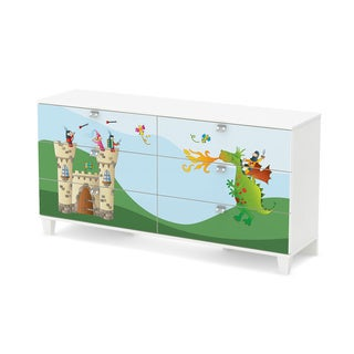 South Shore Andy 6-Drawer Double Dresser with Dragon and Castle Ottograff Decals