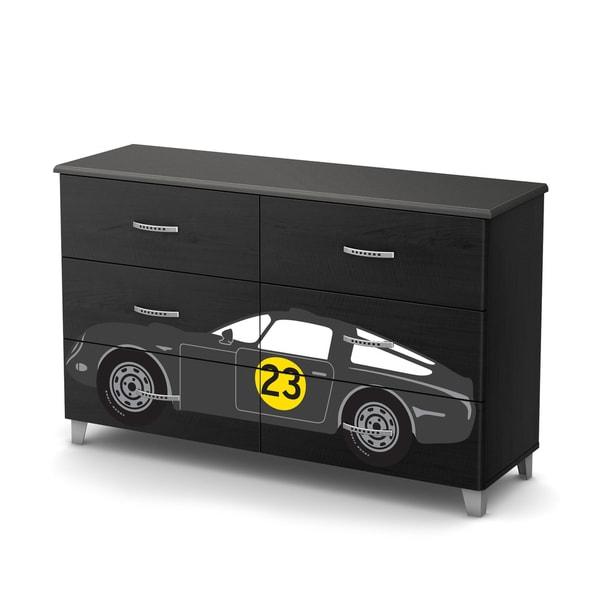 South S Luka 6 Drawer Double Dresser With Car Ottograff Decals