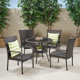 Littleton Outdoor Wicker 5-piece Dining Set by Christopher Knight Home|https://ak1.ostkcdn.com/images/products/10296249/P17410096.jpg?impolicy=medium