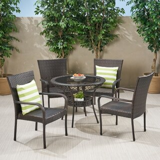 Littleton Outdoor Wicker 5-piece Dining Set by Christopher Knight Home