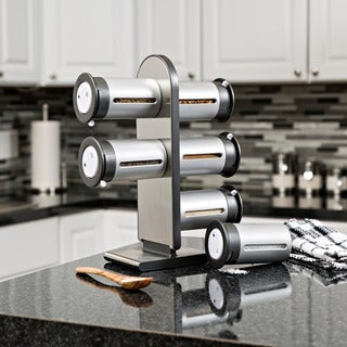 Magnetic 6-canister Spice Stand