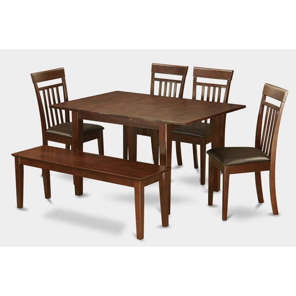 piece dinette kitchen table and 4 dining chairs and bench 17410246