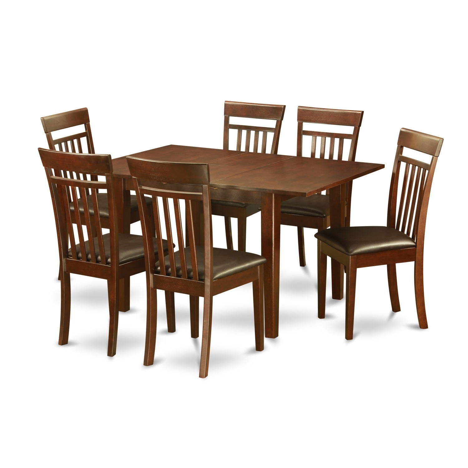 Shop Black Friday Deals On 7 Piece Kitchen Nook Small Table And 6 Dining Room Chairs On Sale Overstock 10296335 Faux Leather