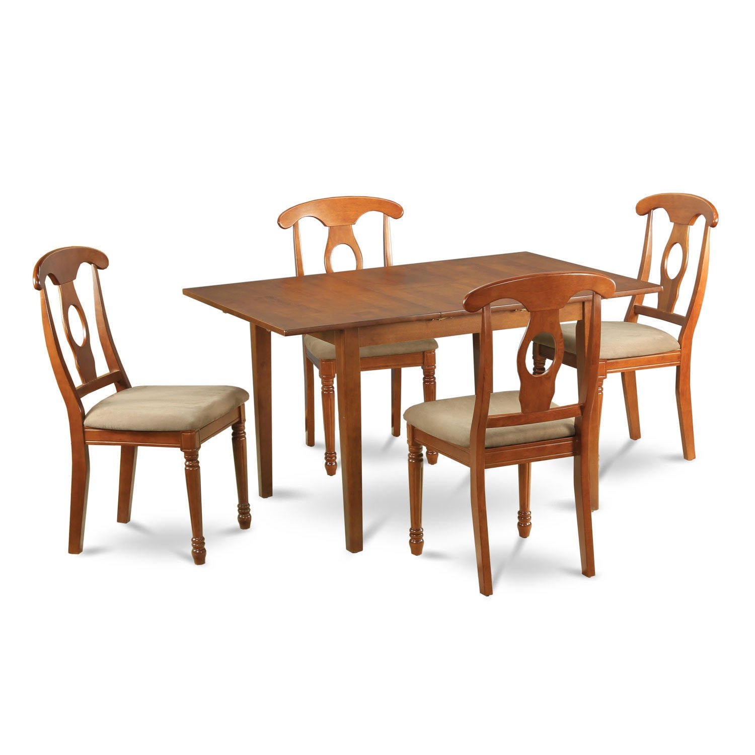 Saddle Brown 5-piece Kitchen Nook Table and 4 Brown Dinin...