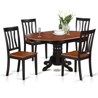 5-piece Oval Dining with Leaf and 4 Dining Chairs