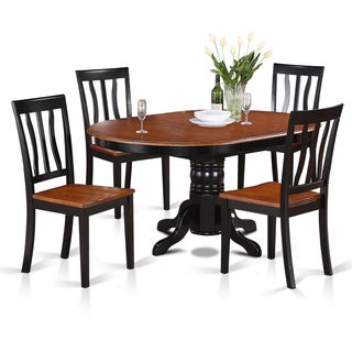 5 Piece Oval Dining With Leaf And 4 Dining Chairs