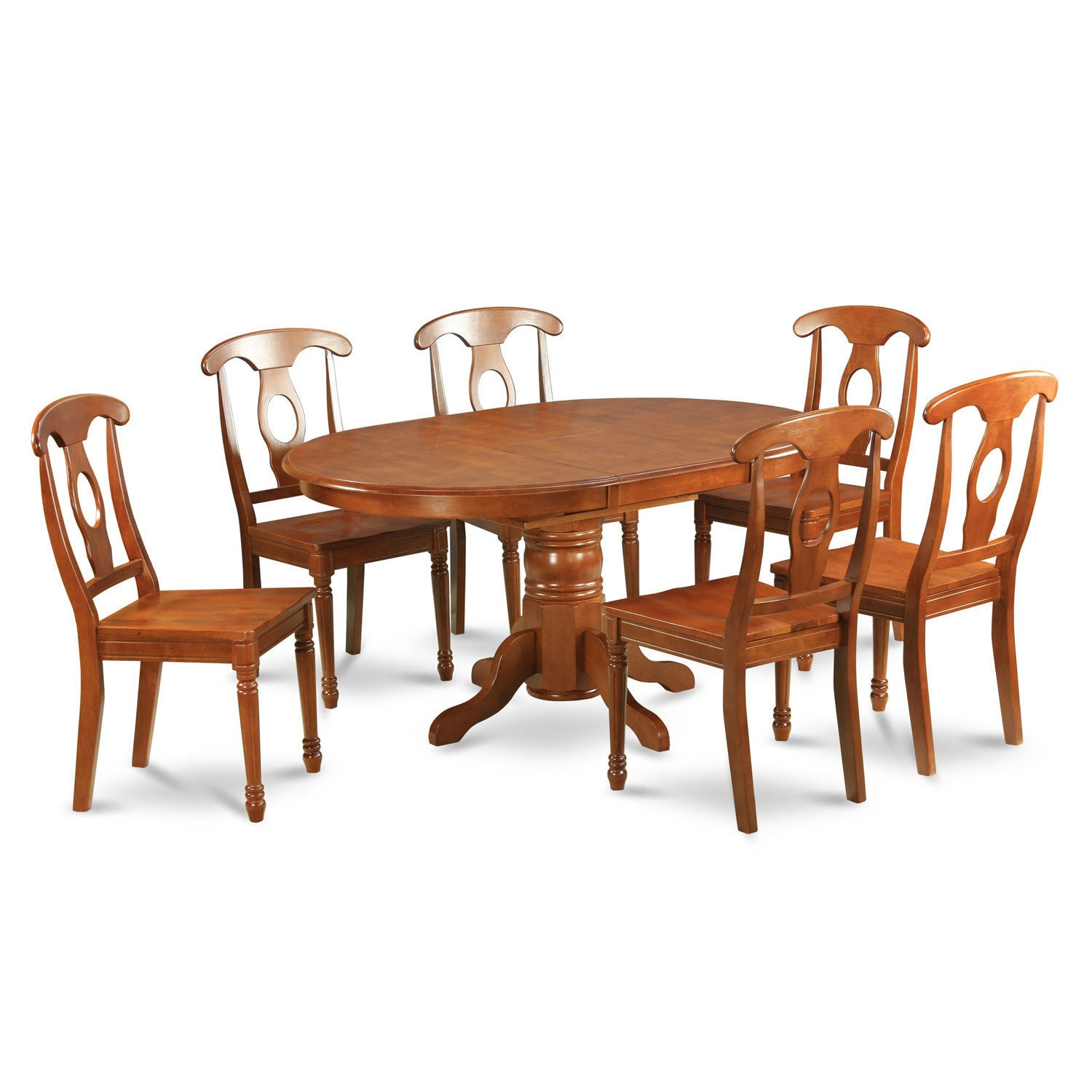 5 PC Dining Set-dining Table Having Leaf and 4 Kitchen Chairs ...