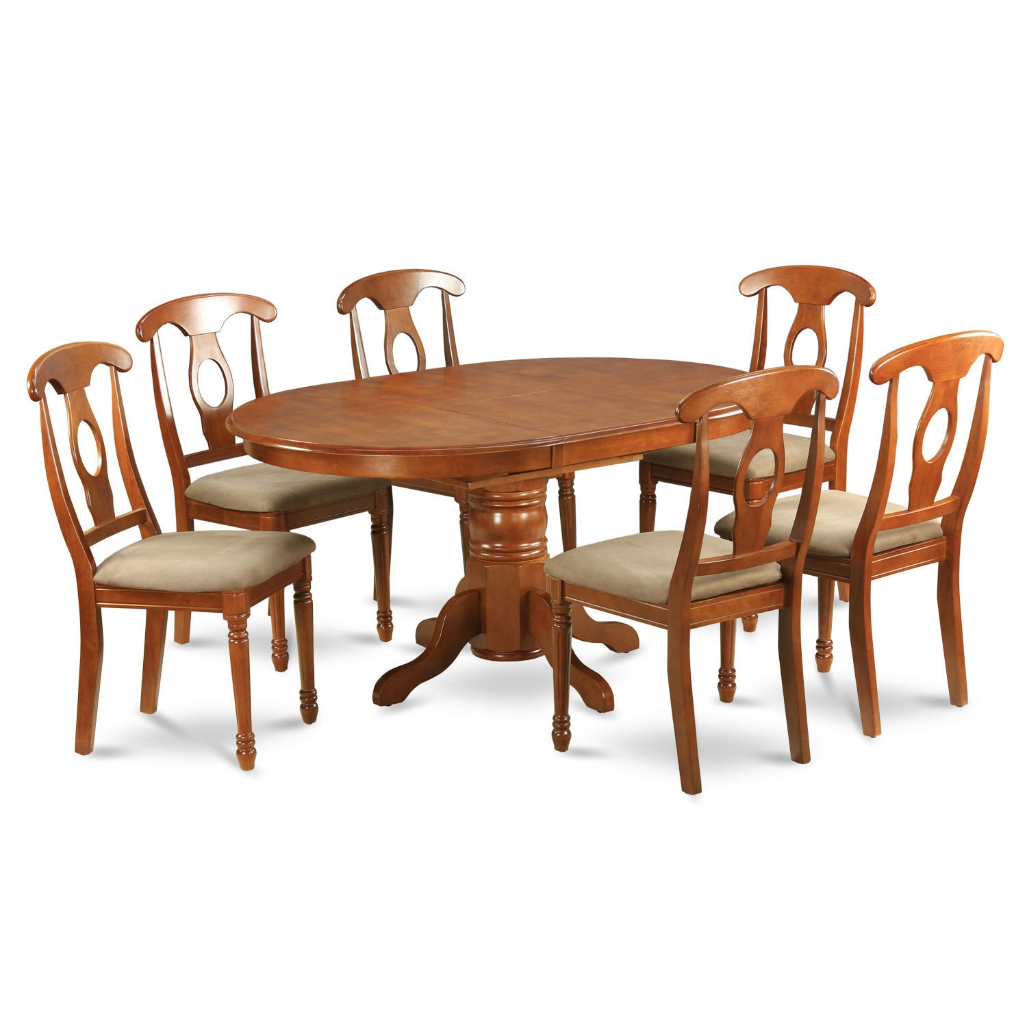Splendid 5-piece Dining Table Having Leaf and 4 Kitchen C...
