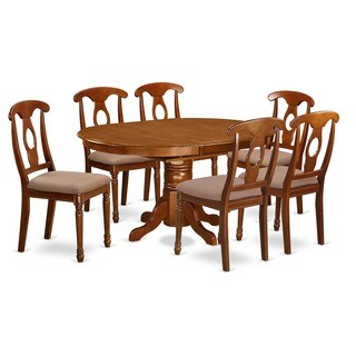 7-piece Dining Room Table with Leaf and 6 Dining Chairs