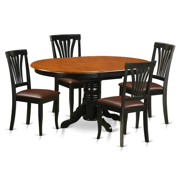 piece dining table set for 4 oval dinette table with leaf and 4