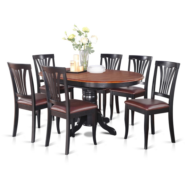 Oval 7-piece Table with Leaf and 6 Dining Chairs