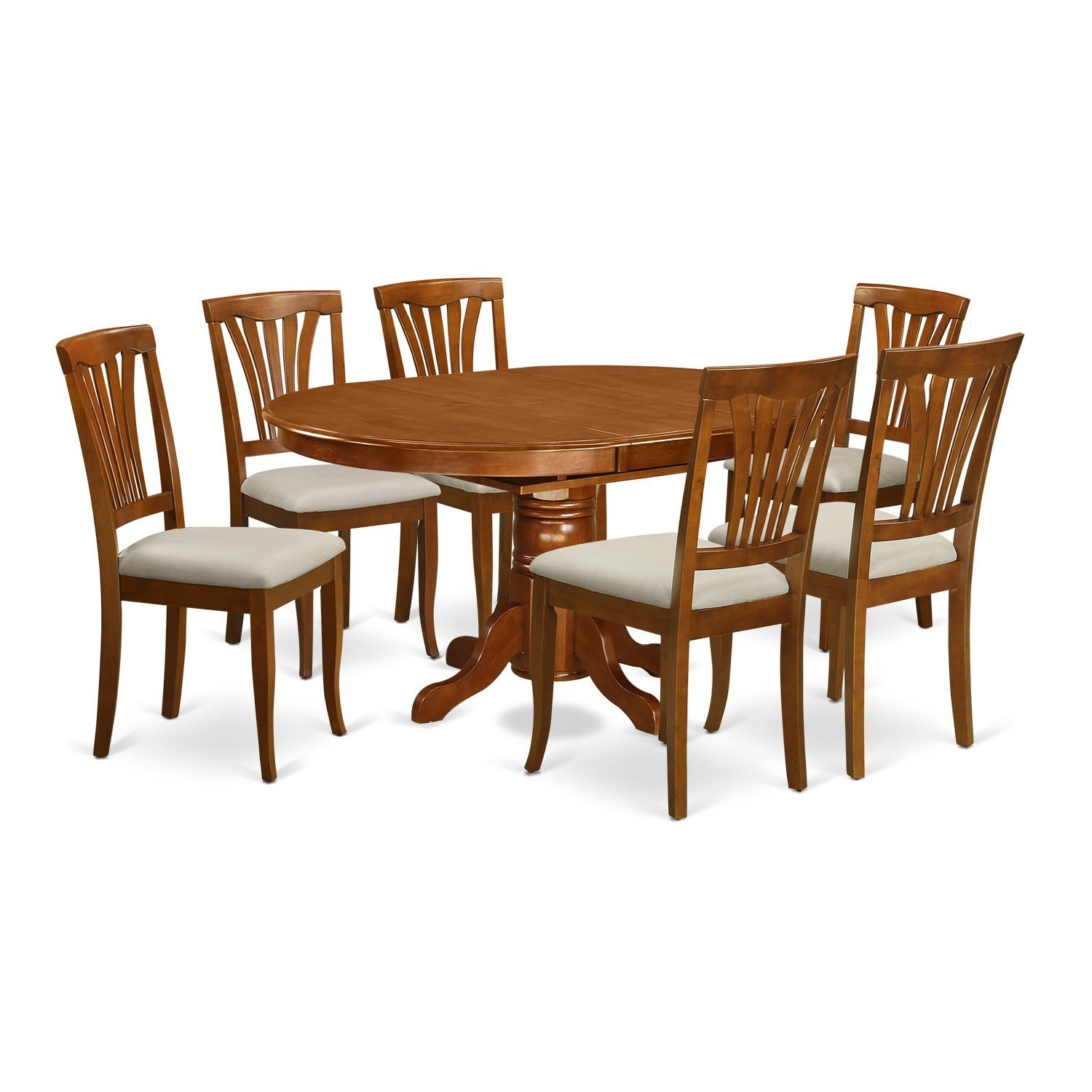 7 Piece Oval Dining Room Table