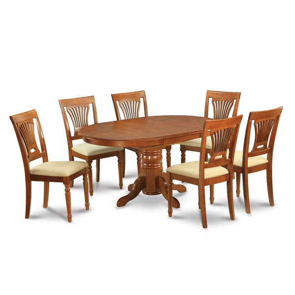 Dining Room Sets With Leaf: Shop 7-piece Oval Dinette Table With Leaf And 6 Dining