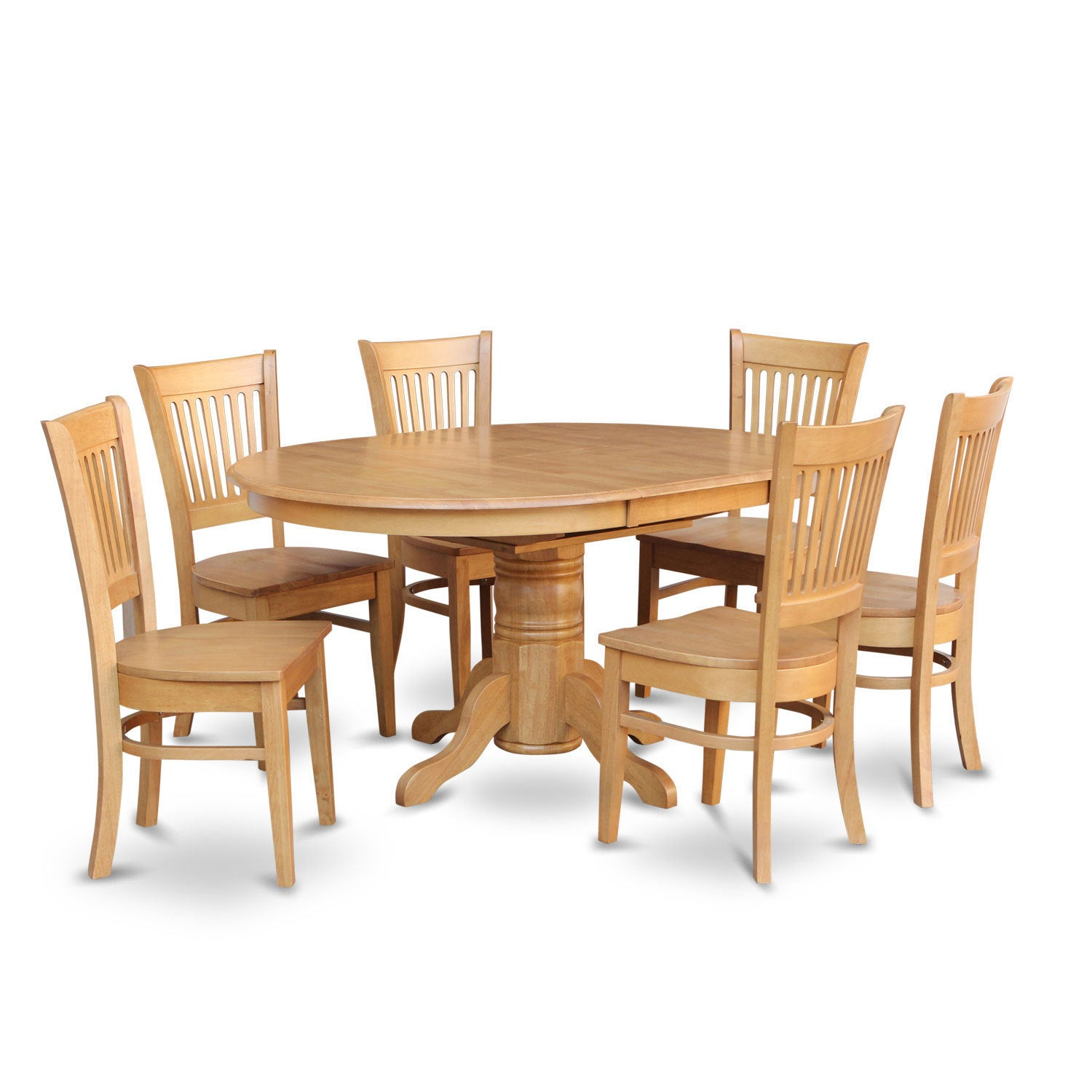 7 Piece Dining Table With Leaf And 6 Dinette Chairs