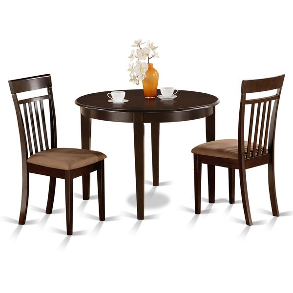 Kitchen Dining Sets Round Table: Shop 3-piece Kitchen Nook Round Table And 2 Dining Chairs
