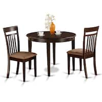 3-piece Kitchen Nook Round Table and 2 Dining Chairs